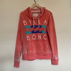 Billabong Women's Coral Pink Weathered Hoodie